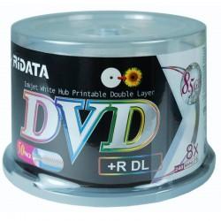 DVD+R DL RIDATA Double Couche Imprimable pqt de 50