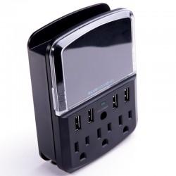 Barre d'alimentation 3 prises 540 joules et 4 ports USB BlueDiamond