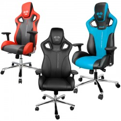 Chaise Gamer E-Blue Cobra Gaming (Bleu, Rouge ou noire)