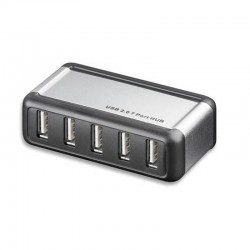 Concentrateur USB 2.0 Alimenté 7 ports Techly