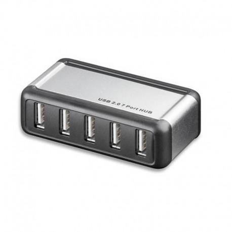 Concentrateur USB 2.0 Alimenté 7 ports Techly