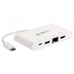 Adaptateur Multiport USB C HDMI/RJ45/USB 3.0/USB C /
