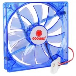Ventilateur 140mm Coolmax Bleu LED