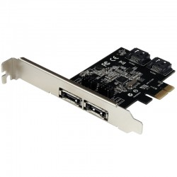 2 Port PCI Express SATA 6 Gbps eSATA Controller Card - Dual Port PCIe SATA III Card - 2 Int/2 Ext