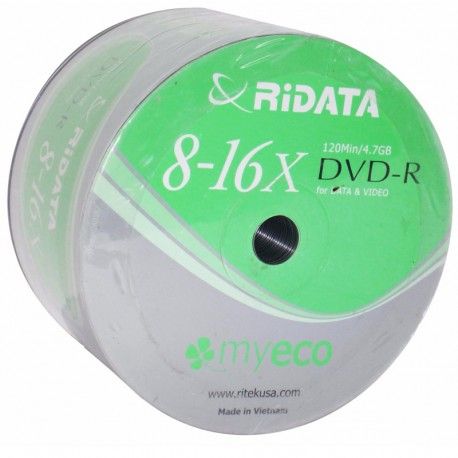 DVD-R Ridata pqt de 50