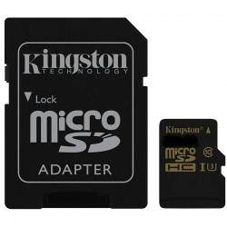 Micro SD Card + Adapter 32 GB U3 4K Ultra HD Kingston