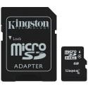Micro SD + Adaptateur 8 GB Classe 4 Kingston
