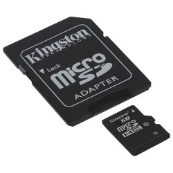 Carte Micro SD HC avec Adaptateur SD kingston 16 GB Classe 10