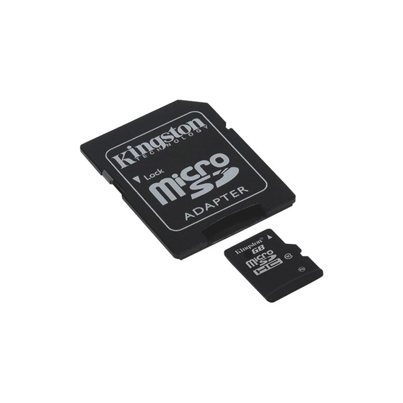 micro sd adaptateur 32 gb classe 10 kingston micro. Black Bedroom Furniture Sets. Home Design Ideas