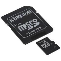 Carte Micro SD HC avec Adaptateur SD kingston 64 GB Classe 10