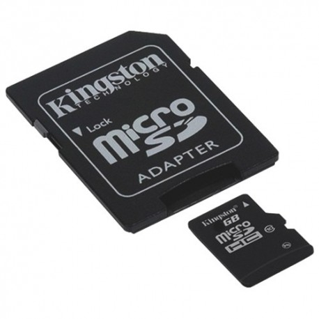 Carte Micro SD HC avec Adaptateur SD kingston 64 GB Classe 10