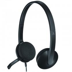 Ecouteur et microphone USB Logitech H340