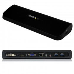 Station d'accueil USB 3.0 universelle double affichage pour PC portable - HDMI et DVI / VGA avec GbE et audio