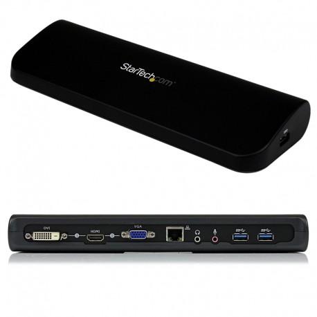 Dual-Monitor USB 3.0 Docking Station with HDMI & DVI/VGA