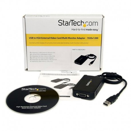 USB 2.0 External Video & Graphics Card | Multi-Monitor | USB-Powered | Supports Windows