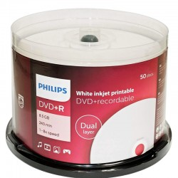 DVD+R DL Philips Double Layer Printable 50 Pack