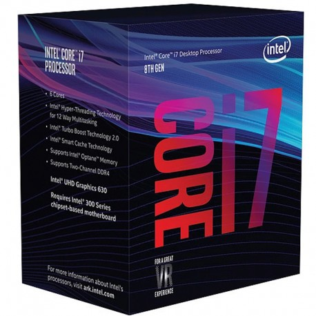 INTEL® CORE™ i7-9700 PROCESSEUR (12M Cache, jusqu'à 4.70 GHz)