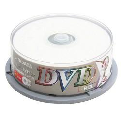 DVD-R DL Ridata Double Couche pqt de 25 imprimable