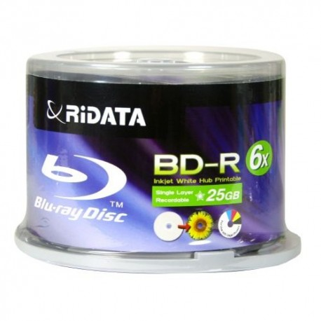 BluRay Ridata pqt de 50 imprimable 25 GB