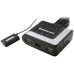 IOGear Compact USB VGA KVM w/ Cables - 2 Port