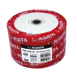 50 Ridata 52X CD-R 80min 700MB White Inkjet Hub Printable