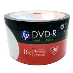 DVD-R HP 4.7GB 16X PRINTABLE 50 Pack