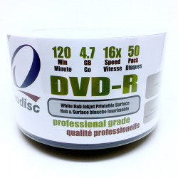 DVD-R RODISC 4.7GB 16X PRINTABLE 50 Pack