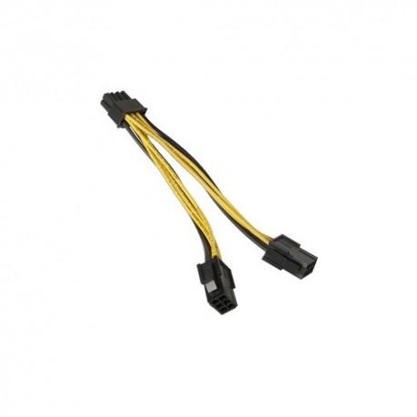 Cable 2 X 6 pins à 8 pins