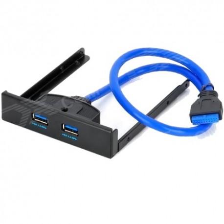 """Facade 3.5"""" avec 2 Ports USB 3.0"""