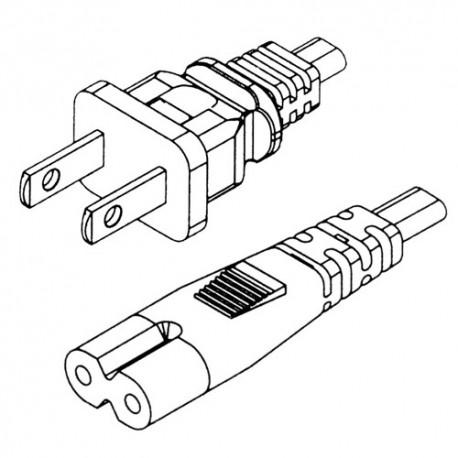 Cable d'alimentation pour Transformateur de Portable en 8
