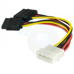 Cable Molex Male a Sata Coudé Double