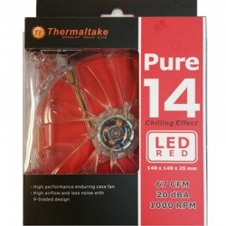 Ventilateur140MM Thermaltake PURE 14 LED Rouge
