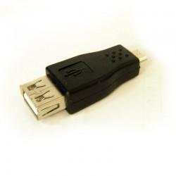 Adaptateur USB 2.0 Femelle à MicroB Male