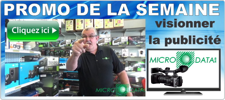 Promotion de la semaine en video